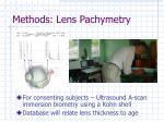 methods lens pachymetry
