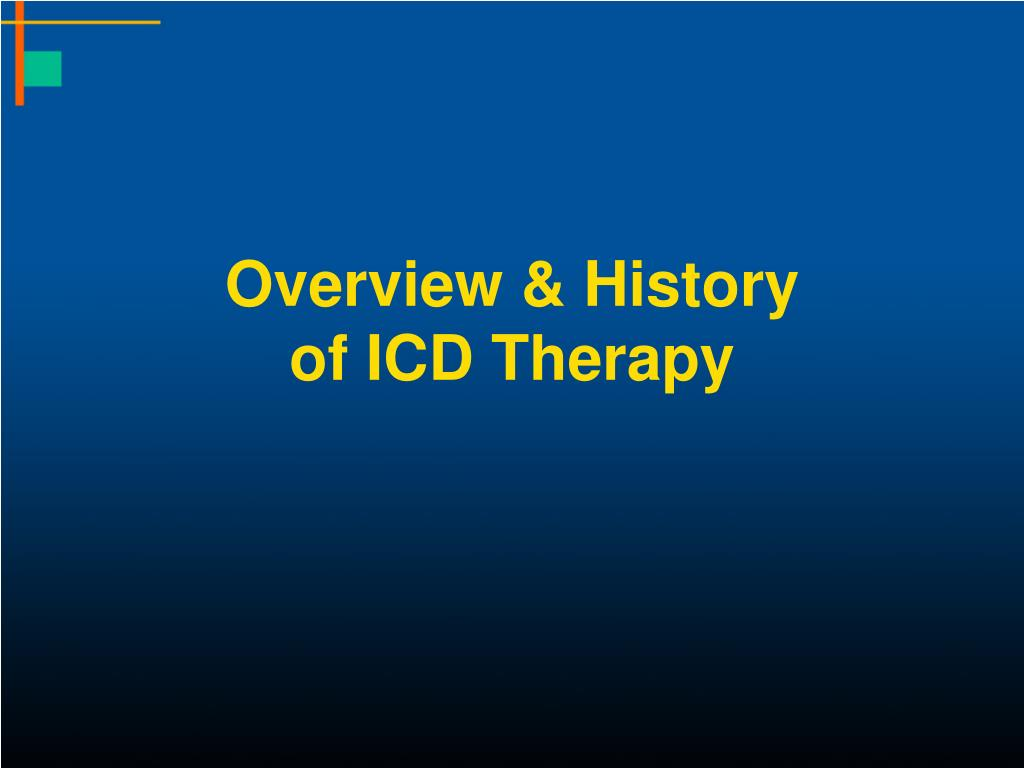 overview history of icd therapy