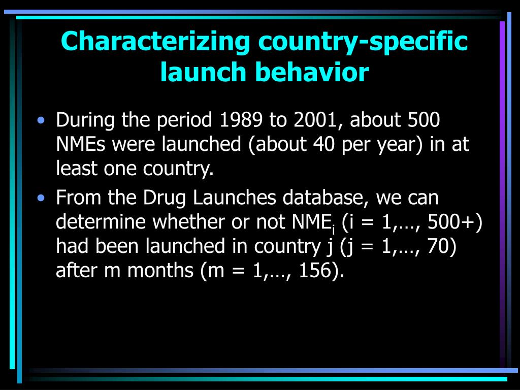 Characterizing country-specific launch behavior
