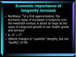 economic importance of longevity increase