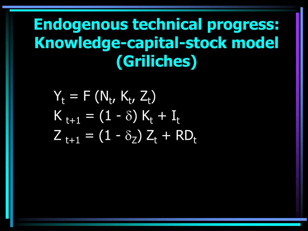 Endogenous technical progress: