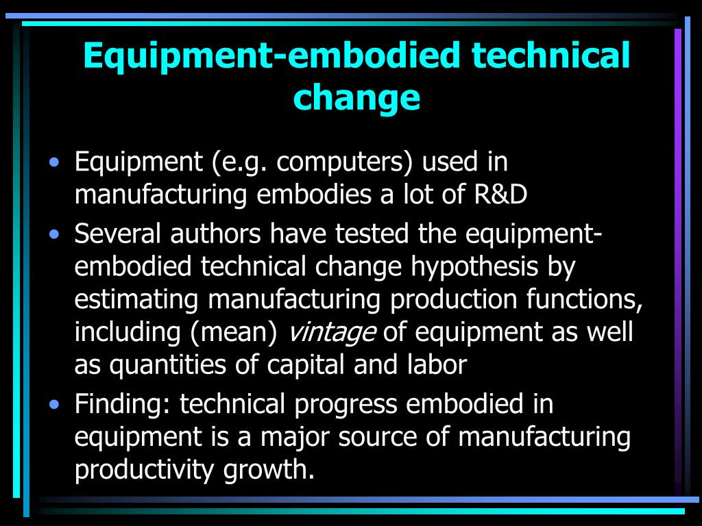 Equipment-embodied technical change
