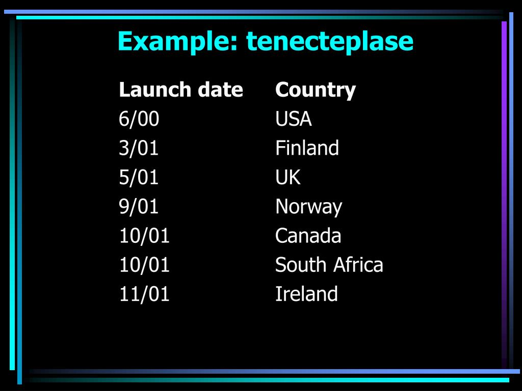 Example: tenecteplase