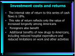 investment costs and returns53