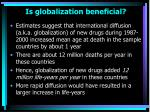 is globalization beneficial