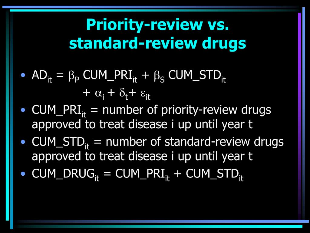Priority-review vs.