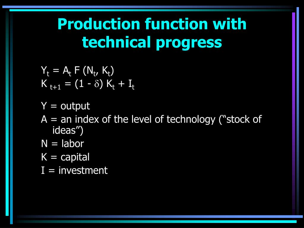 Production function with technical progress