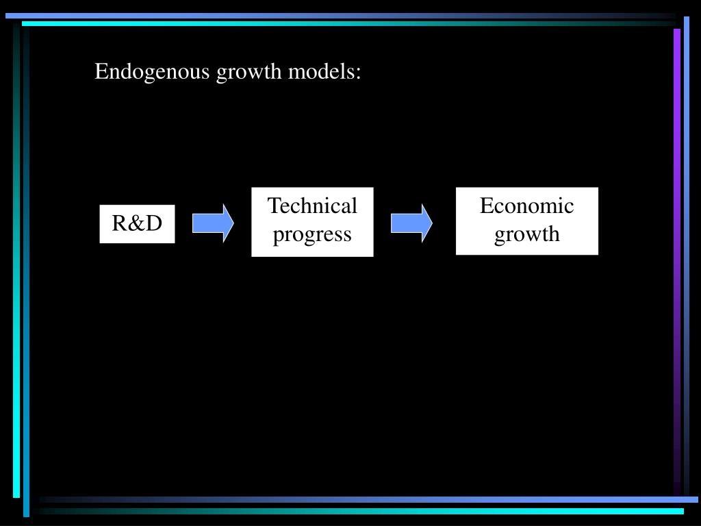 Endogenous growth models: