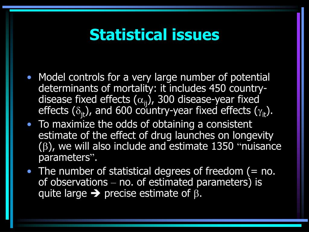 Statistical issues
