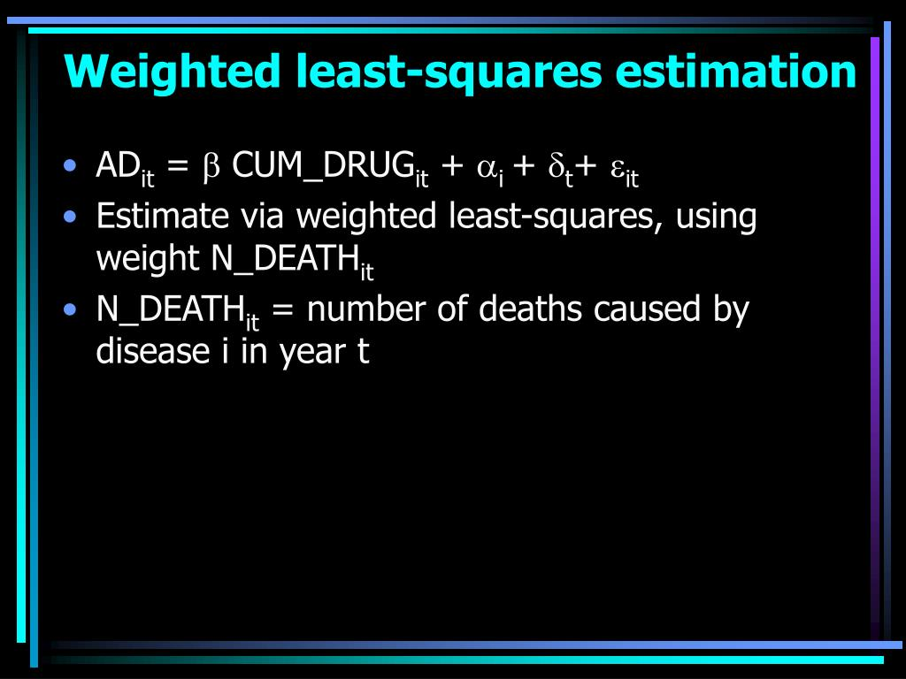 Weighted least-squares