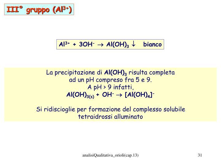 III° gruppo (Al