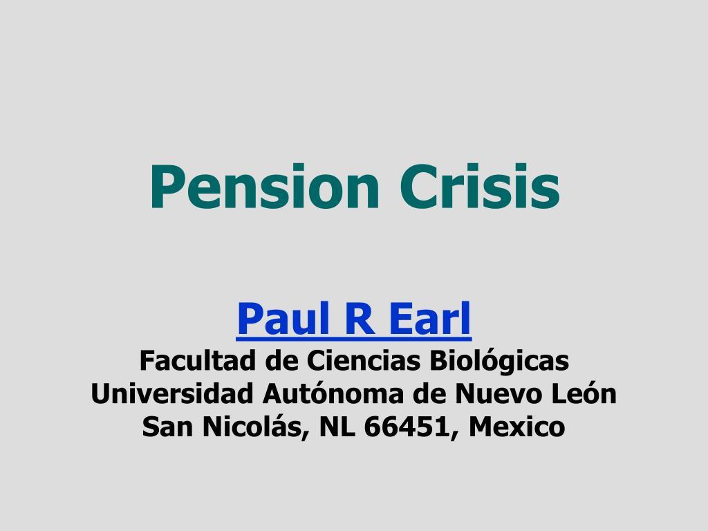 Pension Crisis