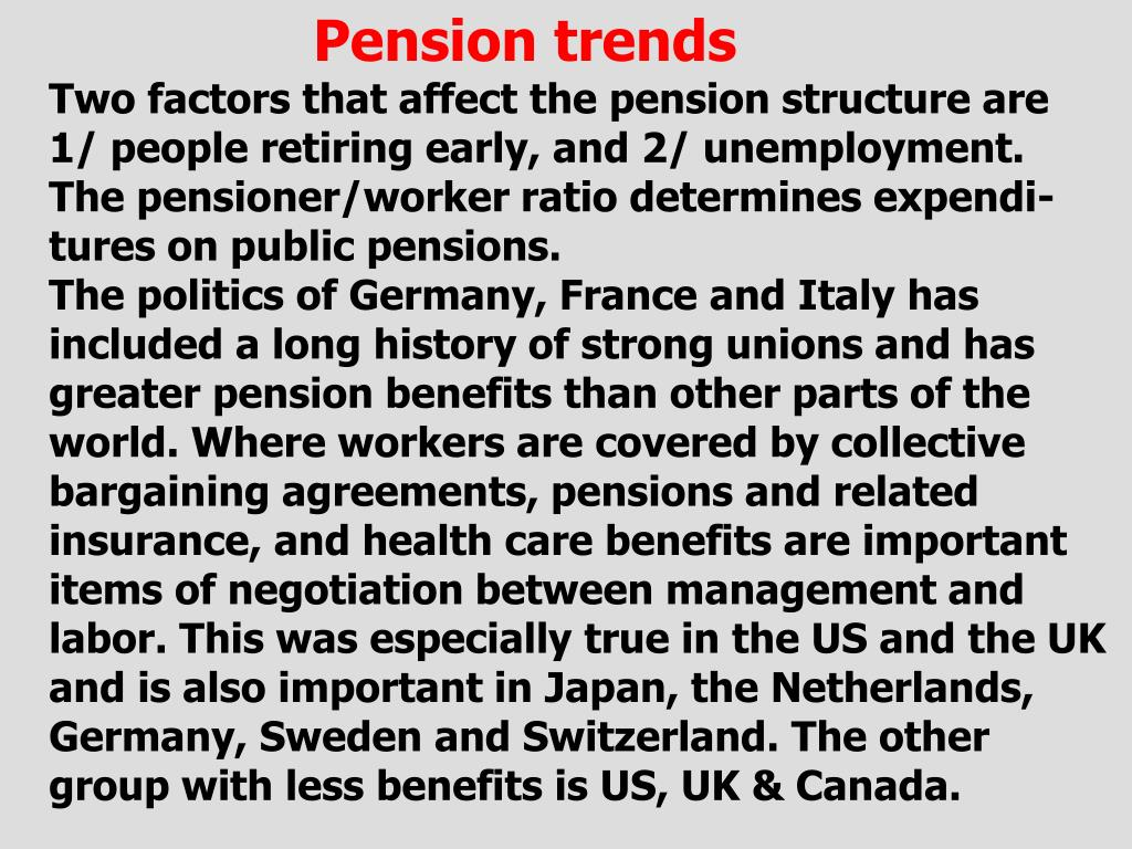 Pension trends