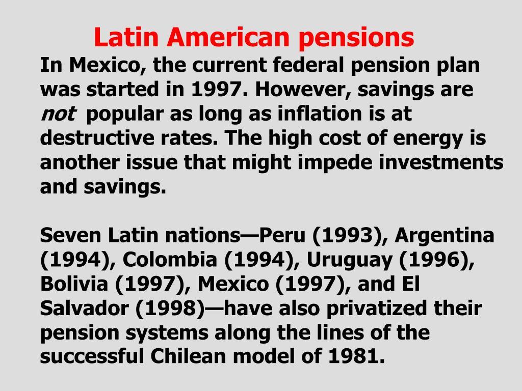 Latin American pensions