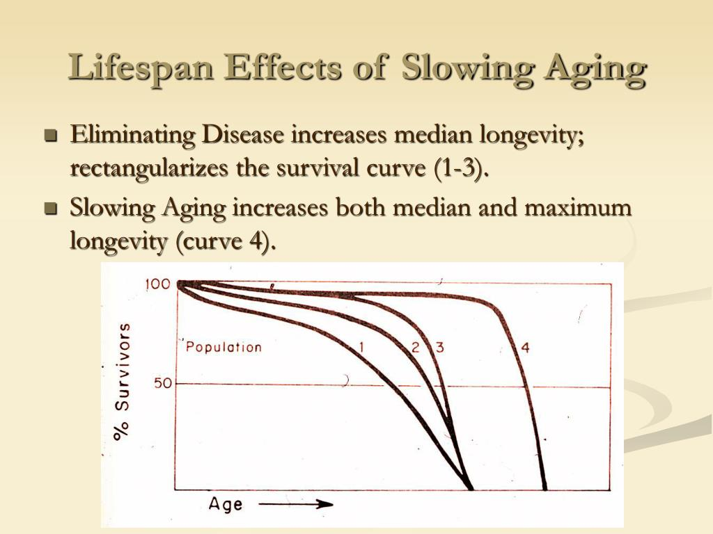 Lifespan Effects of Slowing Aging