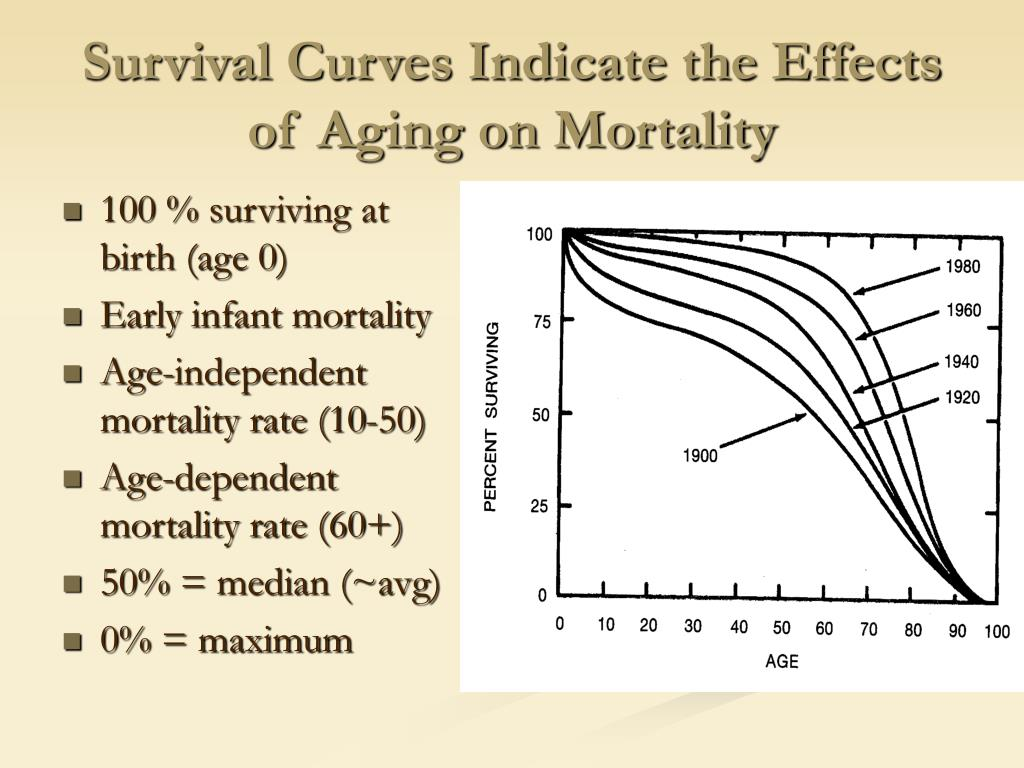 Survival Curves Indicate the Effects of Aging on Mortality