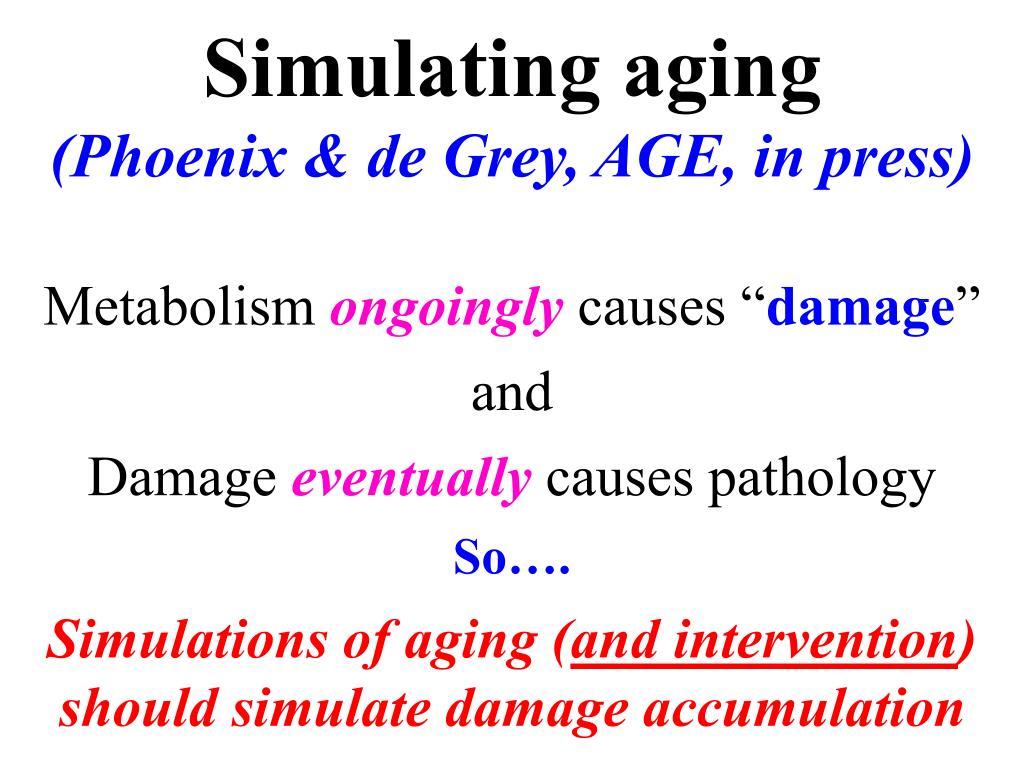Simulating aging