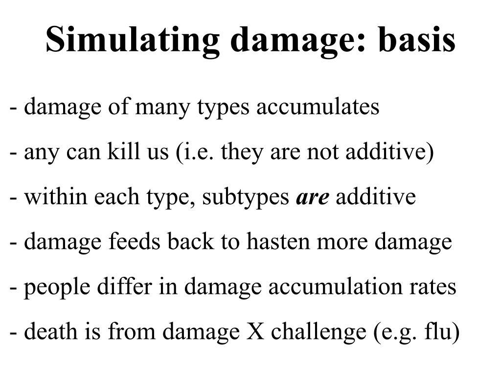 Simulating damage: basis