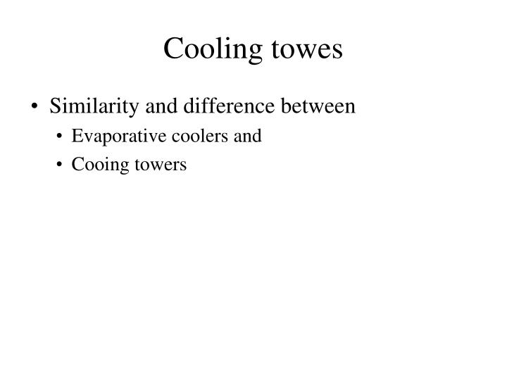 Cooling towes