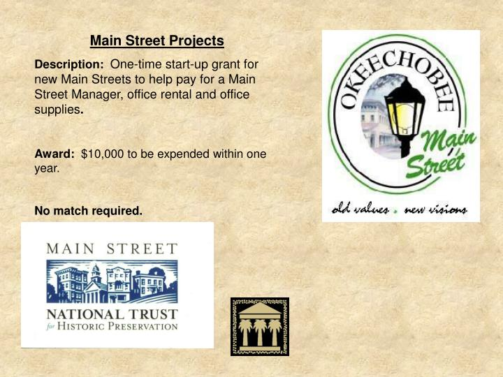 Main Street Projects