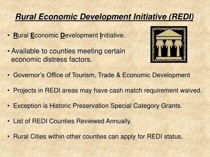 Rural Economic Development Initiative (REDI)