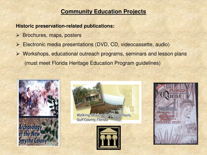 Community Education Projects