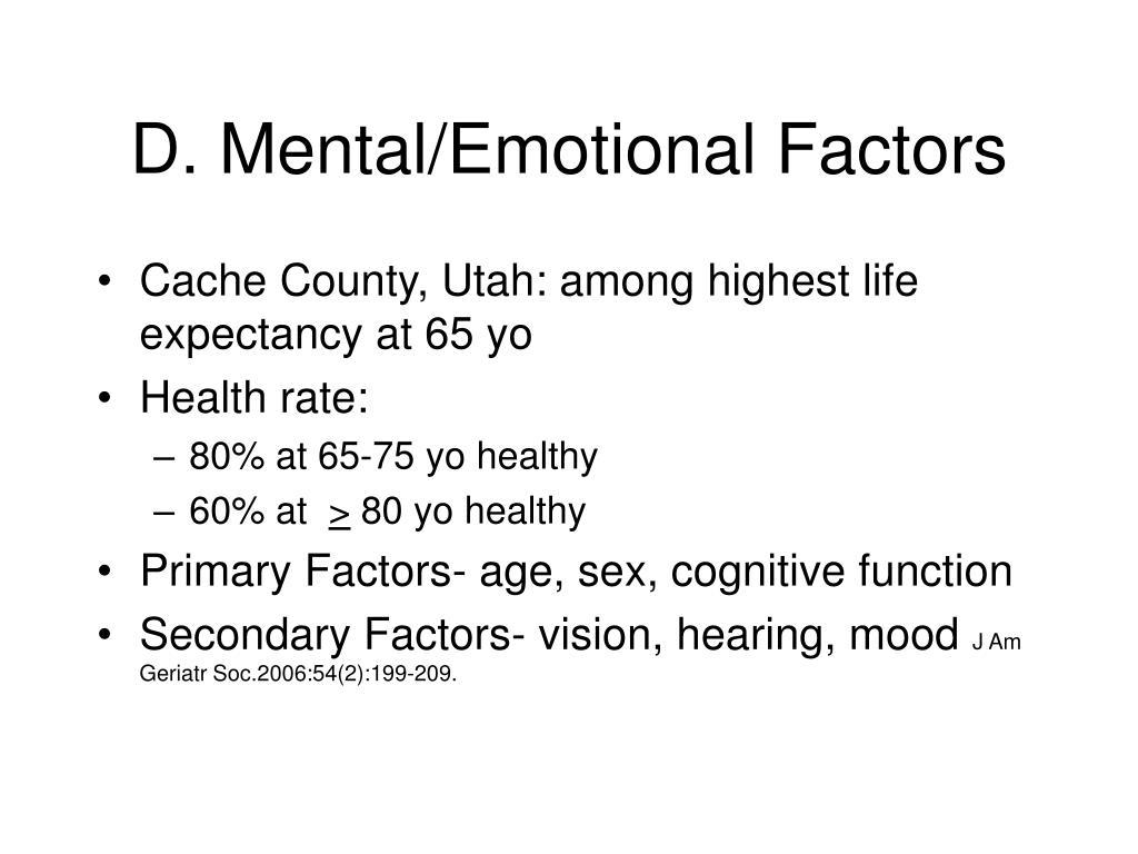 D. Mental/Emotional Factors
