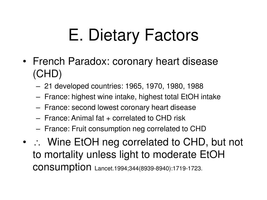 E. Dietary Factors