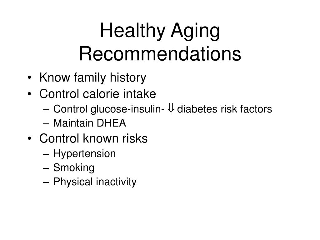 Healthy Aging Recommendations