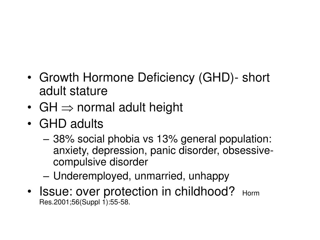 Growth Hormone Deficiency (GHD)- short adult stature