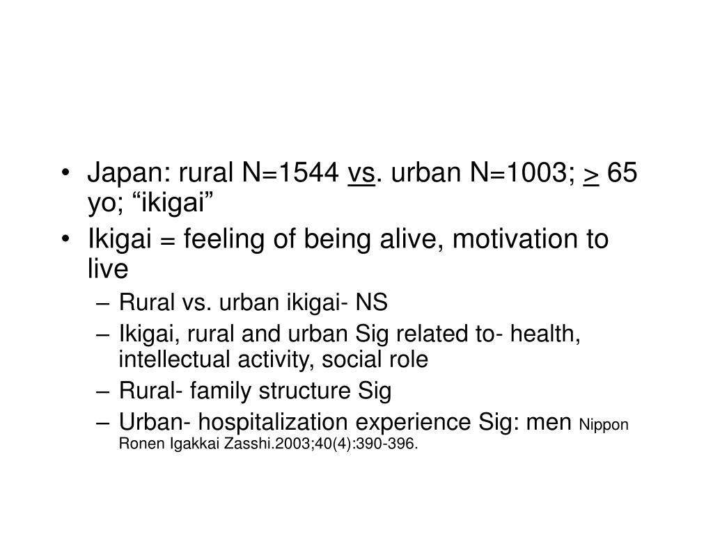 Japan: rural N=1544