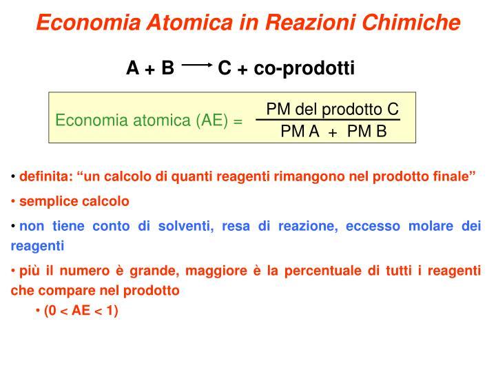 Economia Atomica in Reazioni Chimiche