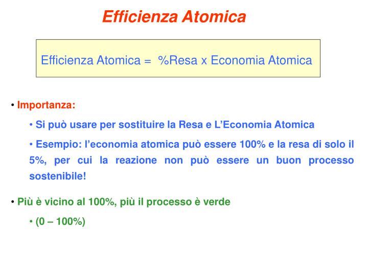 Efficienza Atomica