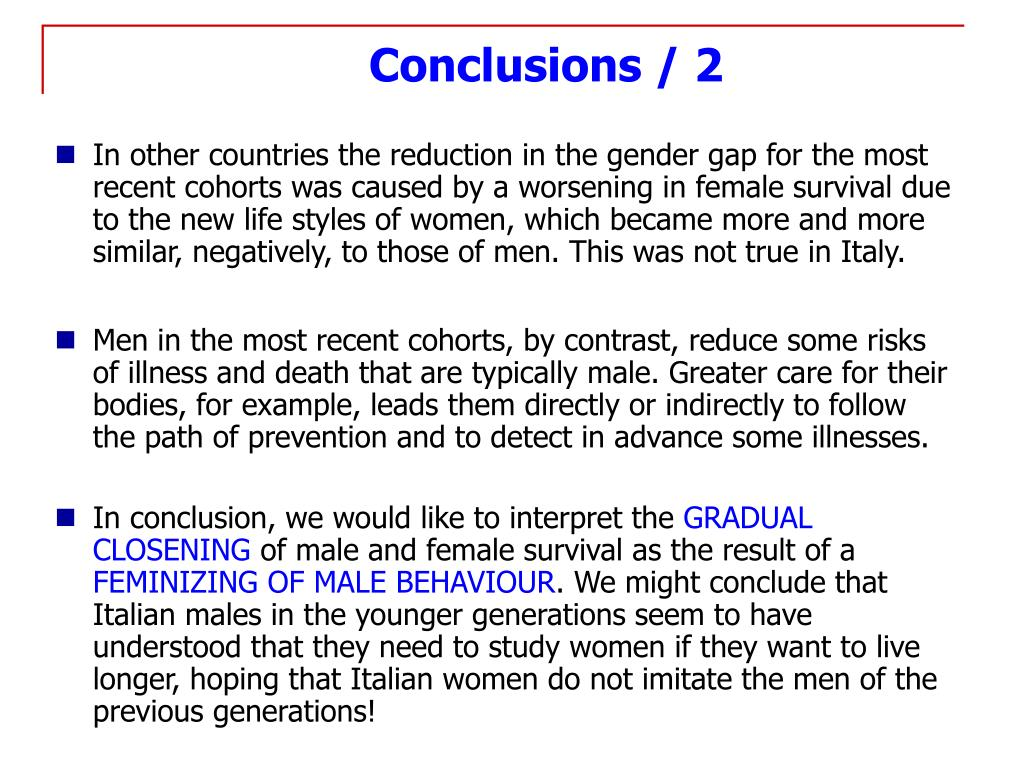 Conclusions / 2