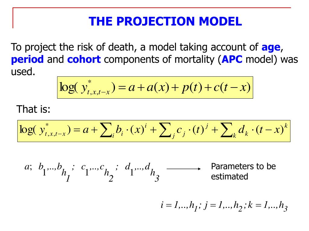THE PROJECTION MODEL