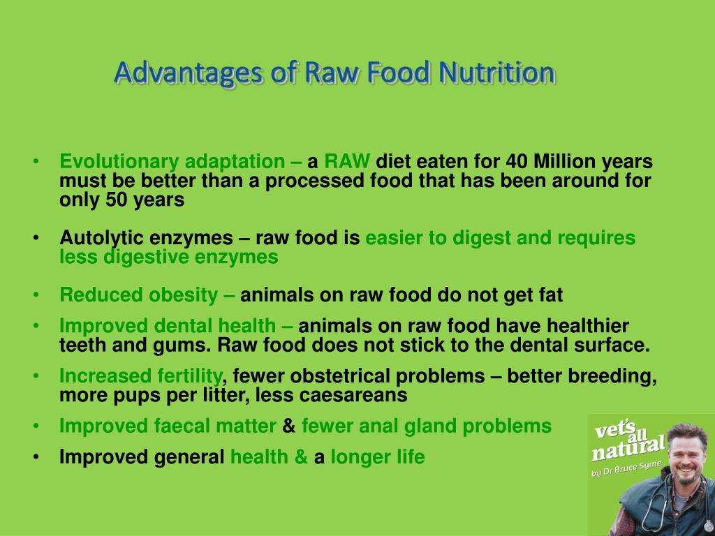 Advantages of Raw Food Nutrition