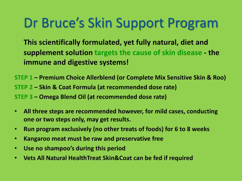 Dr Bruce's Skin Support Program