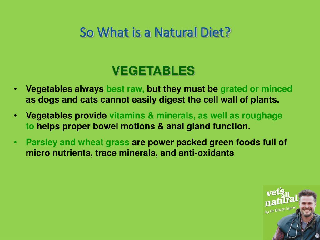 So What is a Natural Diet?