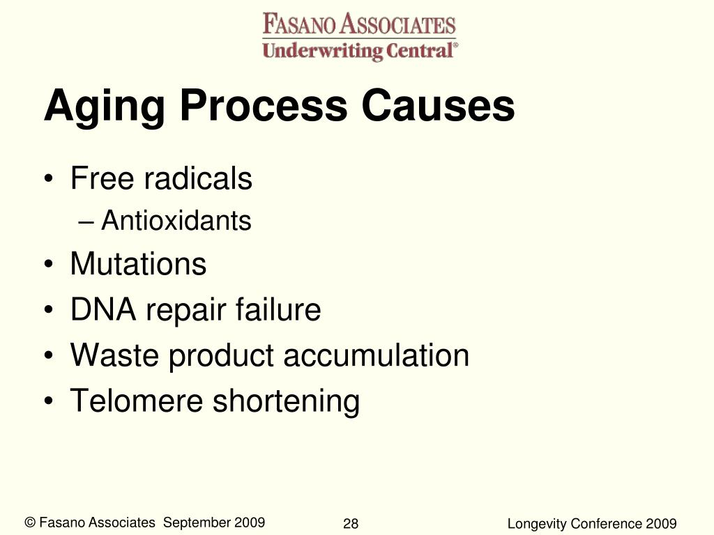 Aging Process Causes