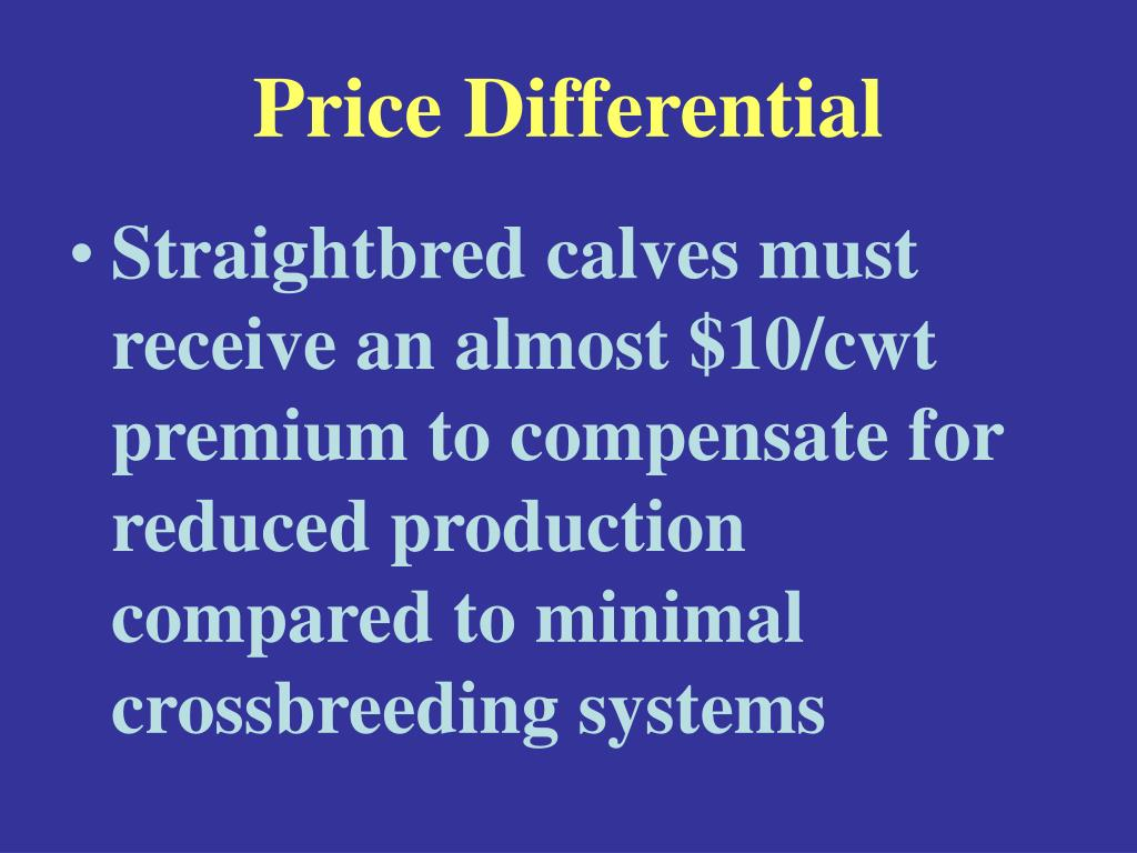 Price Differential