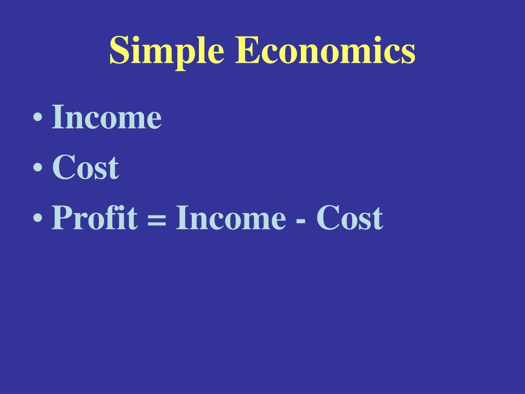 Simple Economics