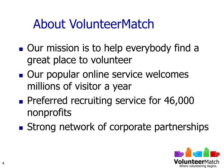 About VolunteerMatch
