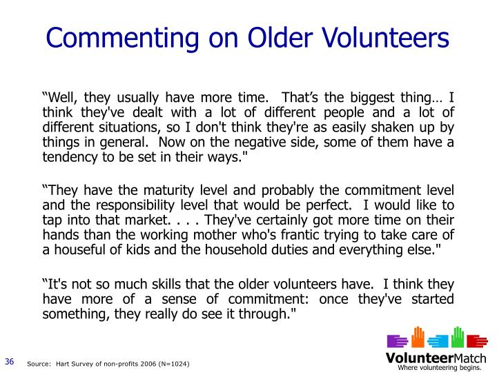 Commenting on Older Volunteers