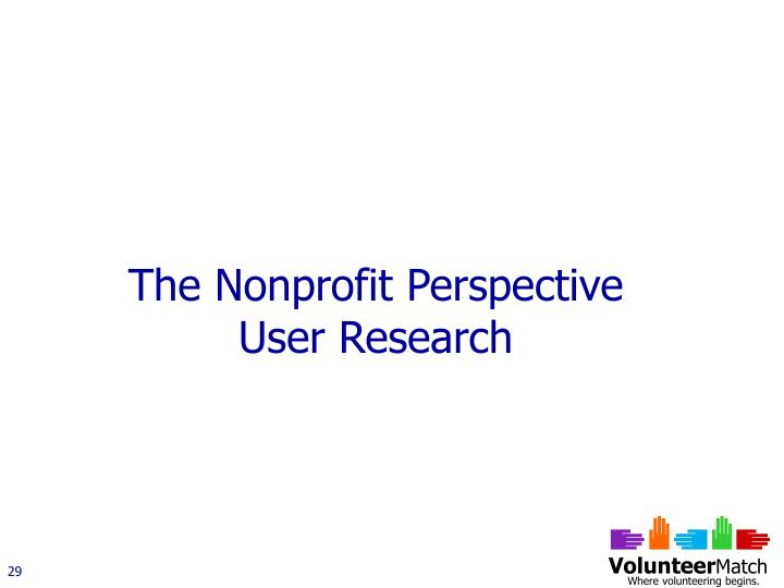The Nonprofit Perspective