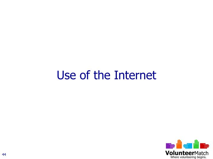 Use of the Internet
