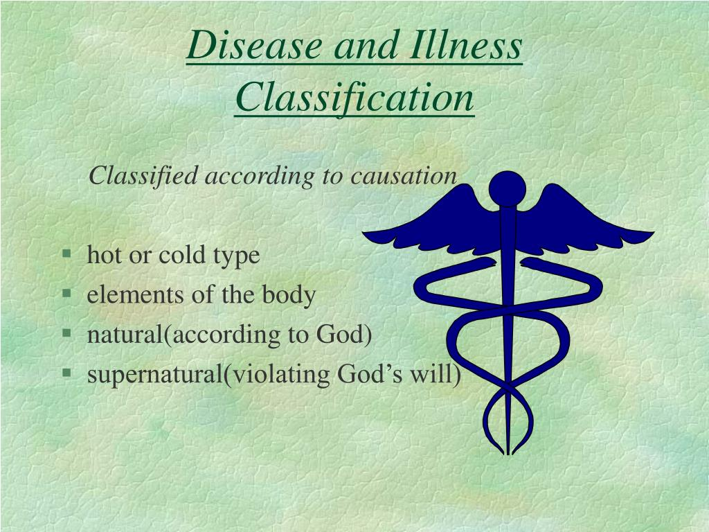 Disease and Illness Classification
