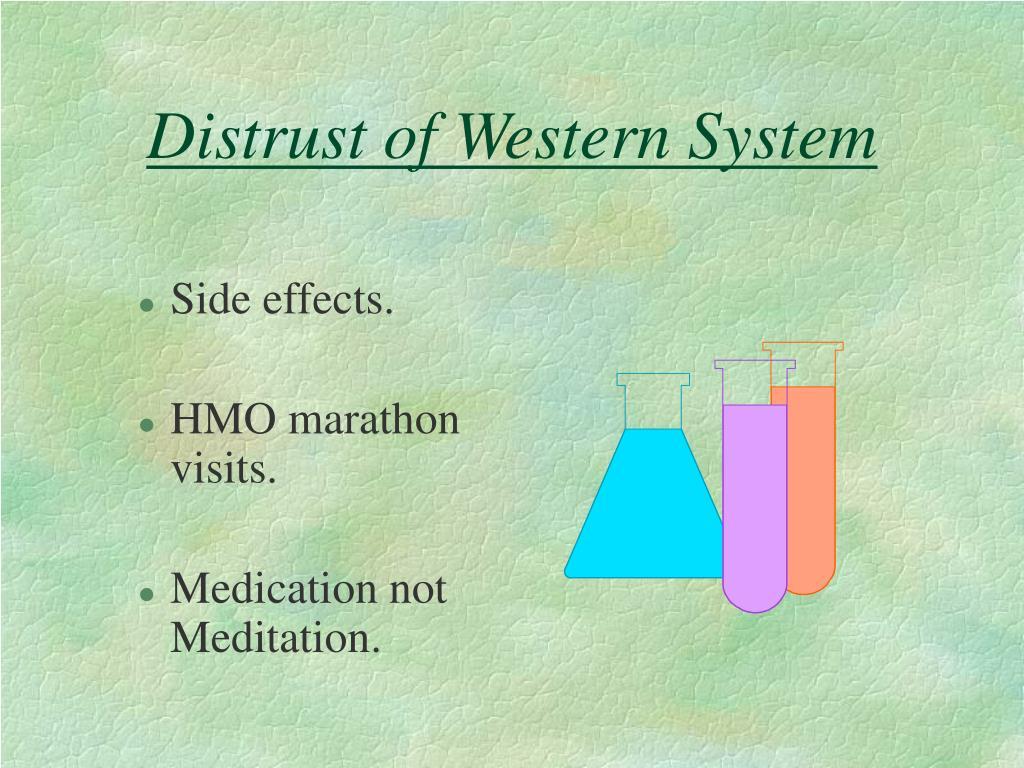 Distrust of Western System