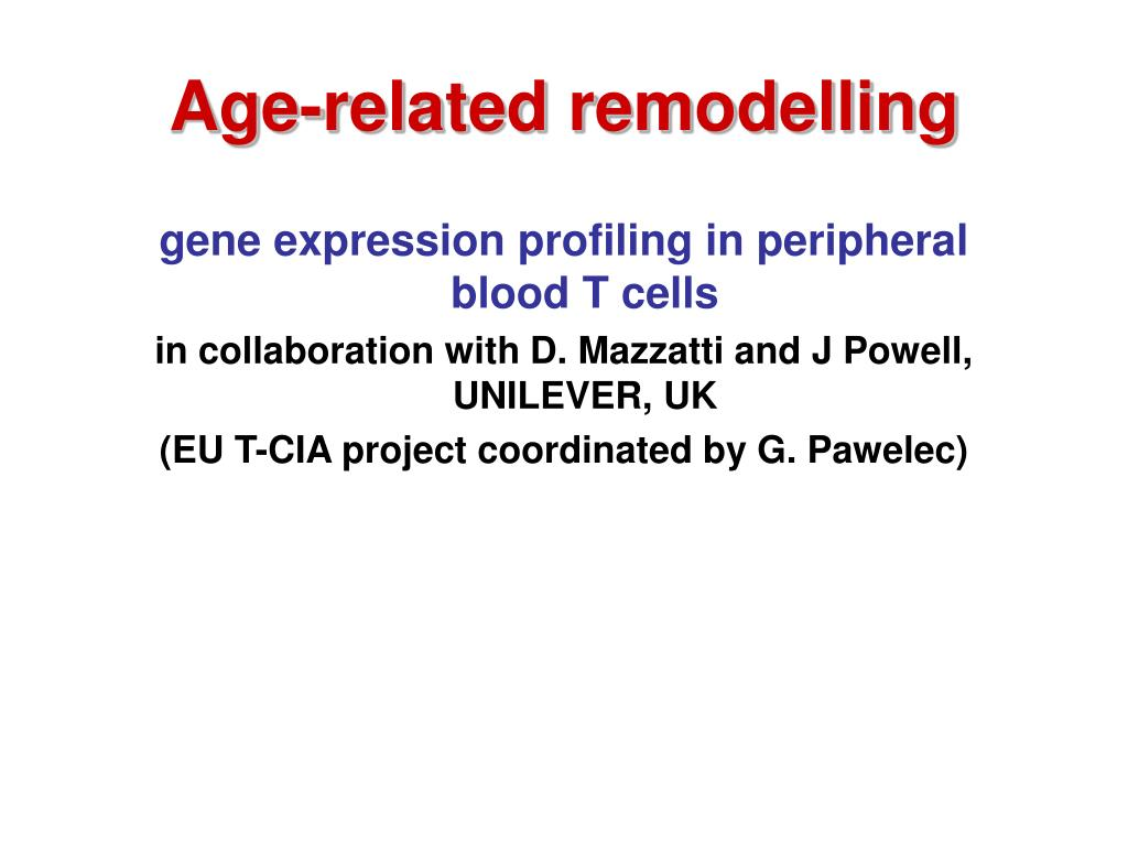 Age-related remodelling