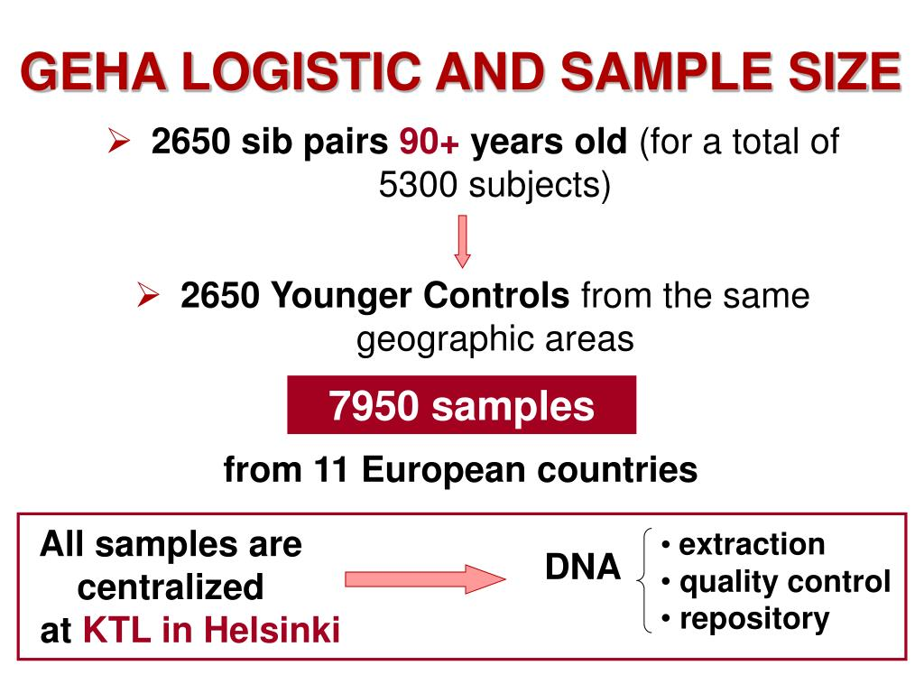 GEHA LOGISTIC AND SAMPLE SIZE