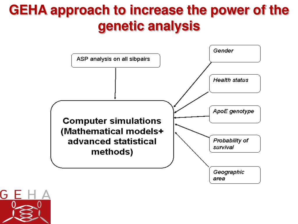 GEHA approach to increase the power of the genetic analysis